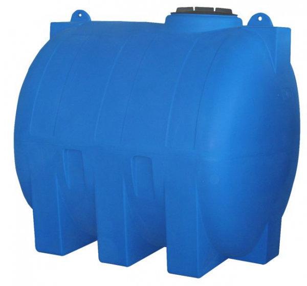 Хоризонтален цилиндричен резервоар за вода - 1500 L